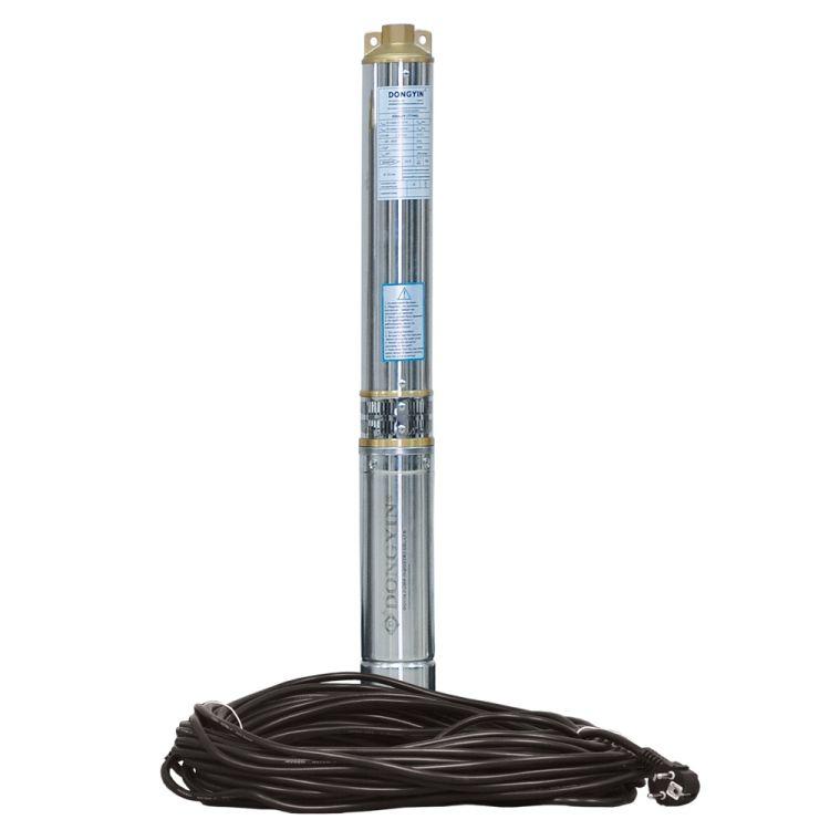 Насос центробежный скважинный 1.5кВт H 108(80)м Q 90(60)л/мин Ø80мм (кабель 50м) AQUATICA (DONGYIN) (777395) - 1