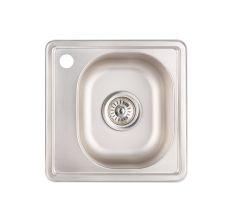 Кухонна мийка Lidz 3838 dekor 0.6 мм (LIDZ3838MDEC06)