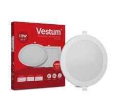 Светильник светодиод 12W 1-VS-5104 LED врезной круглый Vestum 4000K 220V