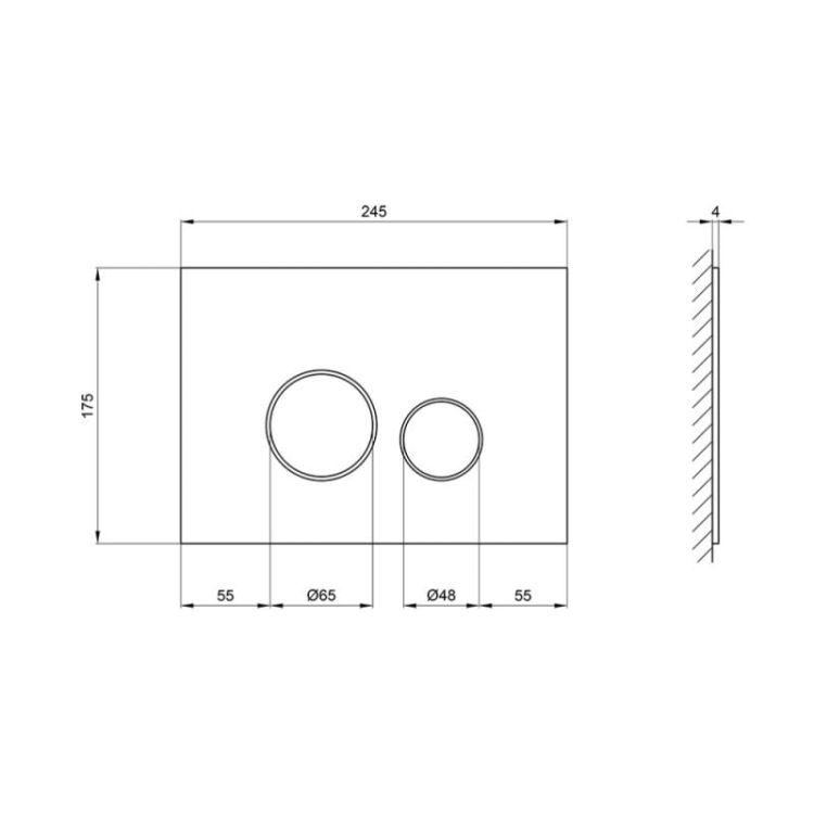 Панель змиву для унітазу Q-tap Nest PL M11GLWHI - 2