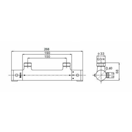 Змішувач для душу Q-tap Inspai-Therm CRM T300100 - 2