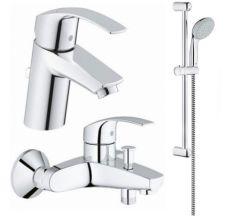 Набір змішувачів для ванни 3в1 S-Size Grohe Eurosmart 123238S