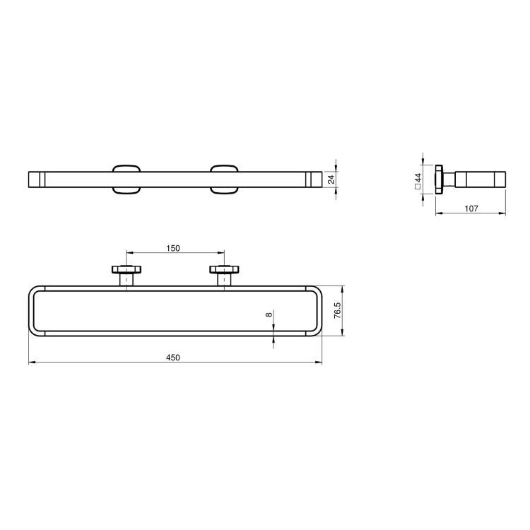 TEO держатель полотенца/ диспенсера/мыльницы/стакана. - 2