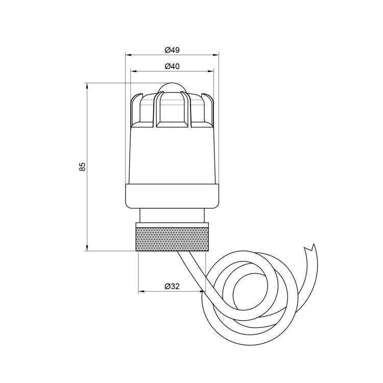Термоголовка з виносним датчиком М30х1,5 SD341 - 2