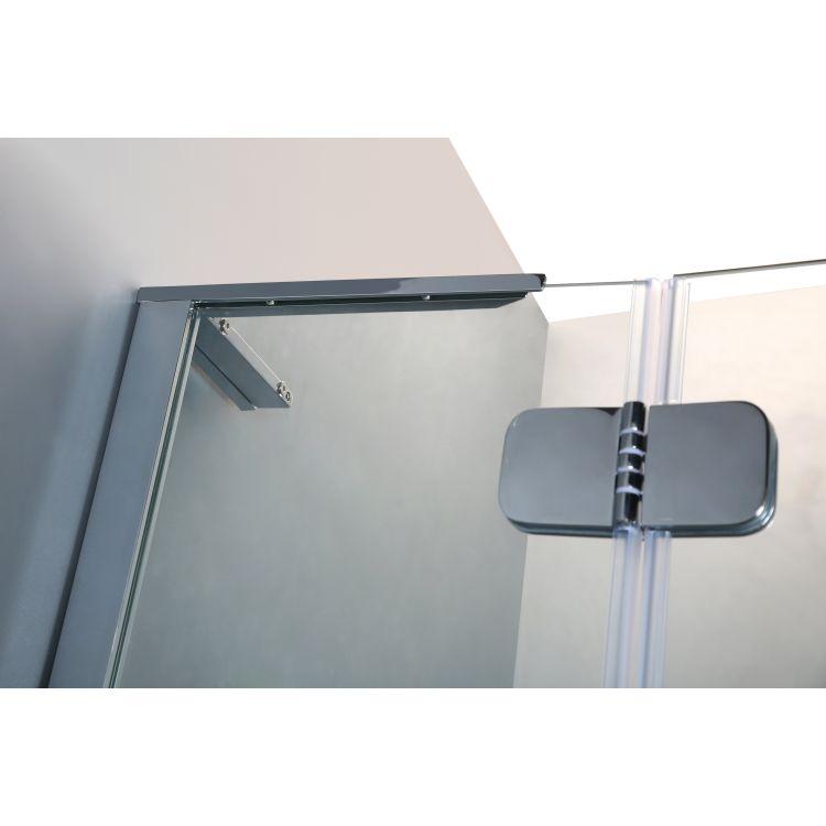 BENITA душова кабіна квадратна 900*900*2000мм, піддон (PUF) 5 см (з сифоном),ліва, орні, профіль хром, прозоре скло - 7