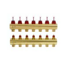Колектор з витратомірами Danfoss FHF на 7 виходів (088U0527)