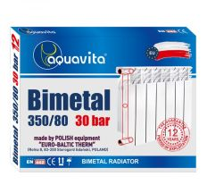 Секция радиатора биметаллического AQUAVITA 350/80, 30 бар