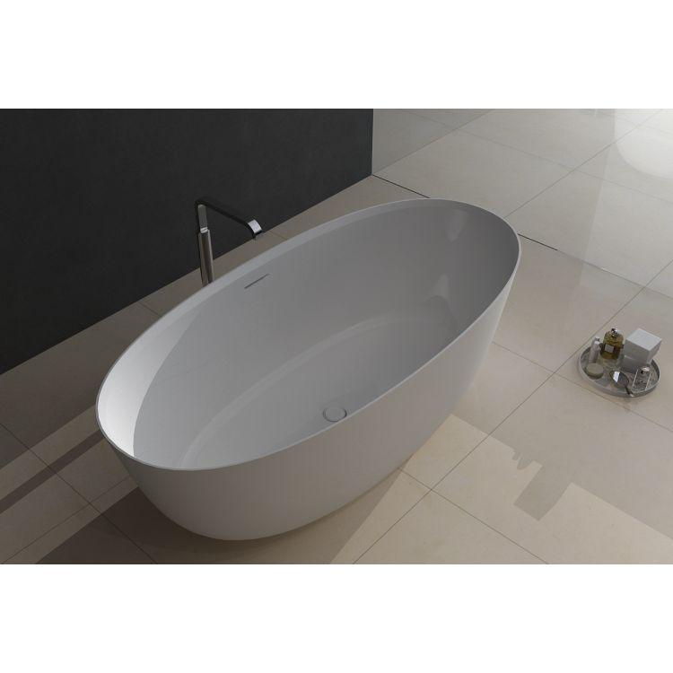 Отдельностоящая Ванна кам'яна 170*80*54см, з переливом та донним клапаном - 1