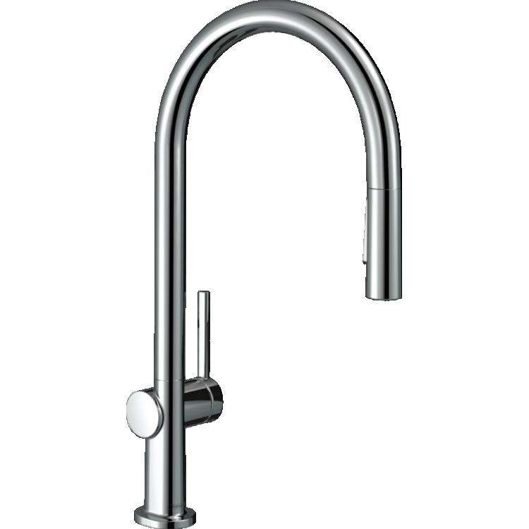 TALIS M54 змішувач для кухні 210, одноважільний, з витяжним душем, 2jet, sBox, колір покриття сталь - 1