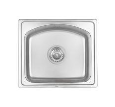 Кухонна мийка Qtap 4842 dekor 0,8 мм (QT4842MICDEC08)