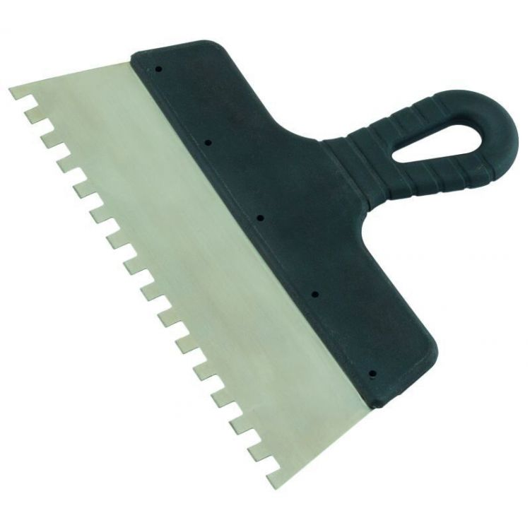 шпатель нержавеющий зубчатый 300мм 8х8 - 1