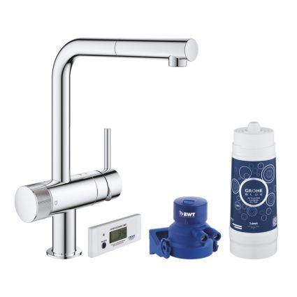 Pure Blue Minta змішувач одинважільний для миття з функцією очищення водопровідної води, монтаж на один отвір - 1