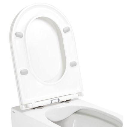 Унітаз підвісний Qtap Scorpio безободковый з сидінням Slim Soft-close QT1433053ERW - 3