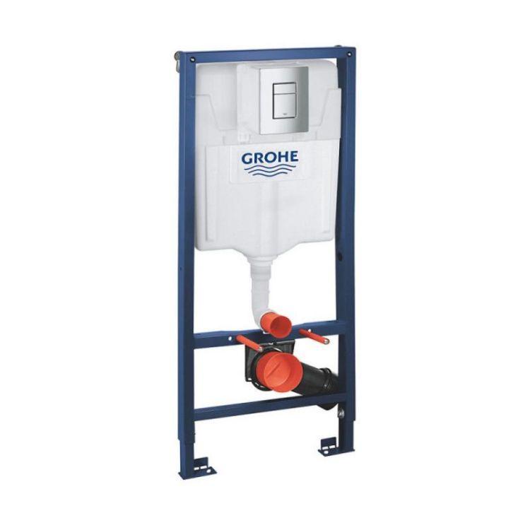 Комплект інсталяція Grohe Rapid SL 38772001 + унітаз з сидінням Qtap Jay QT07335176W + набір для гігієнічного душу зі змішувачем Grohe BauClassic 111048 - 7