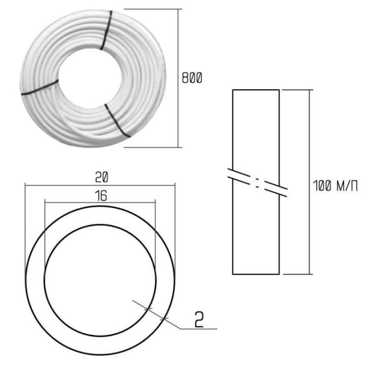 199 Труба МЕТАЛЛОПЛАСТИКОВАЯ ICMA 20х2,0 м/пл - 2