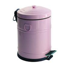 VINTAGE відро для сміття з педаллю 5л, колір троянда