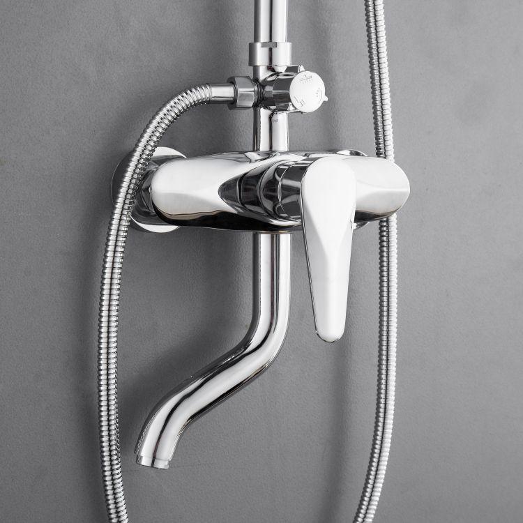 TULIP система душевая (смеситель для ванны, верхний и ручной душ) - 9