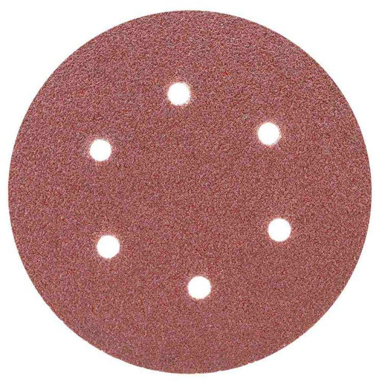 Шлифовальный круг 6 отверстий Ø150мм P60 (10шт) Sigma (9122241) - 1