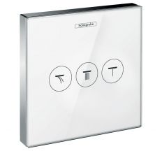 ShowerSelect Модуль з трьома запірними клапанами, шкло, білий/хром