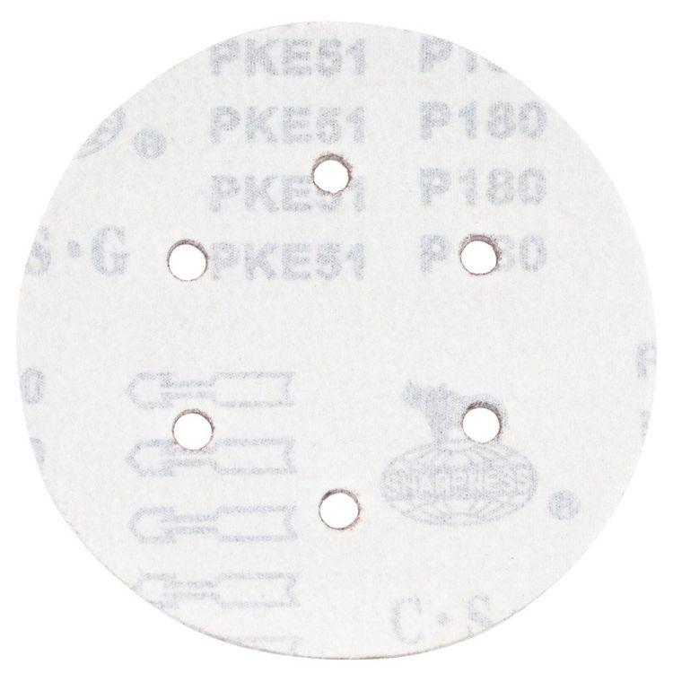 Шлифовальный круг 6 отверстий Ø150мм P180 (10шт) Sigma (9122291) - 2