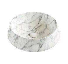 Умывальник 46*46*16см накладной керамический под светлый мрамор