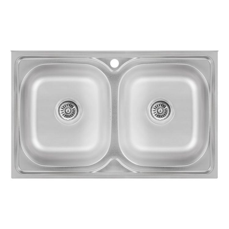 Кухонна мийка Lidz 5080 Satin 0,8 мм (LIDZ5080SAT8) - 1