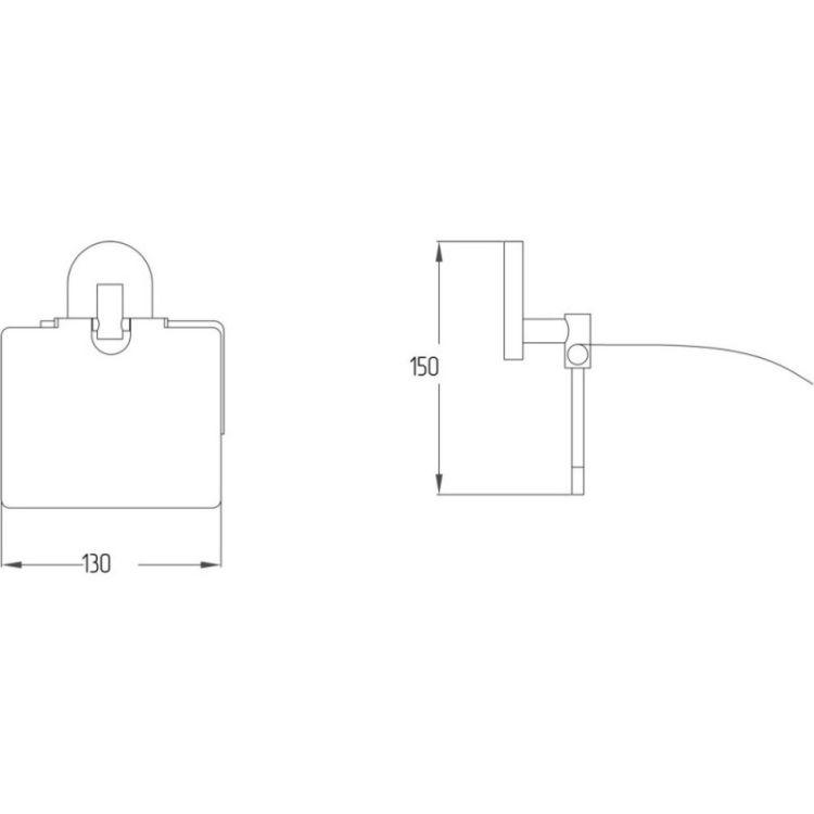 Тримач для туалетного паперу з кришкою Potato P2903 - 2