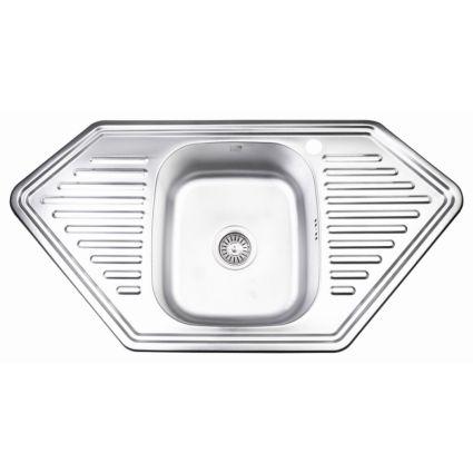 Кухонна мийка Lidz 9550-D Decor 0,8 мм (LIDZ9550DEC08) - 1