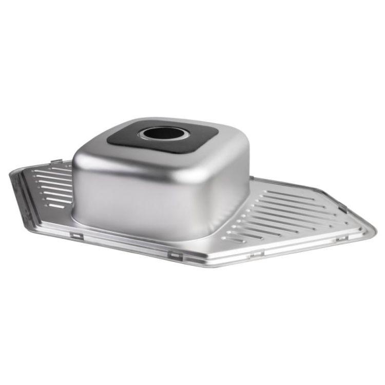 Кухонна мийка Lidz 9550-D Decor 0,8 мм (LIDZ9550DEC08) - 4