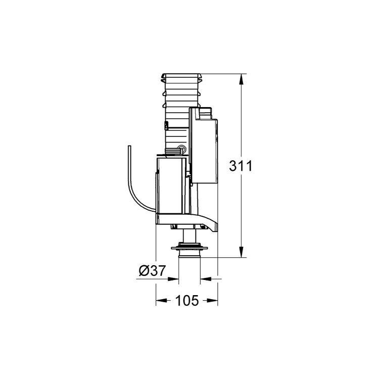 AV1 випускний клапан, подвійний змив - 2