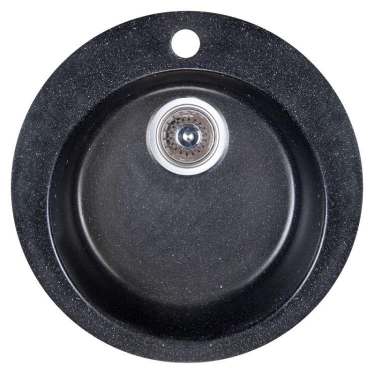 Мойка Fosto 470/475*165 цвет SGA-420 черный (без сифона) - 1