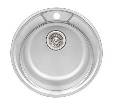 Кухонна мийка Qtap D490 Satin 0,8 мм (QTD490SAT08)