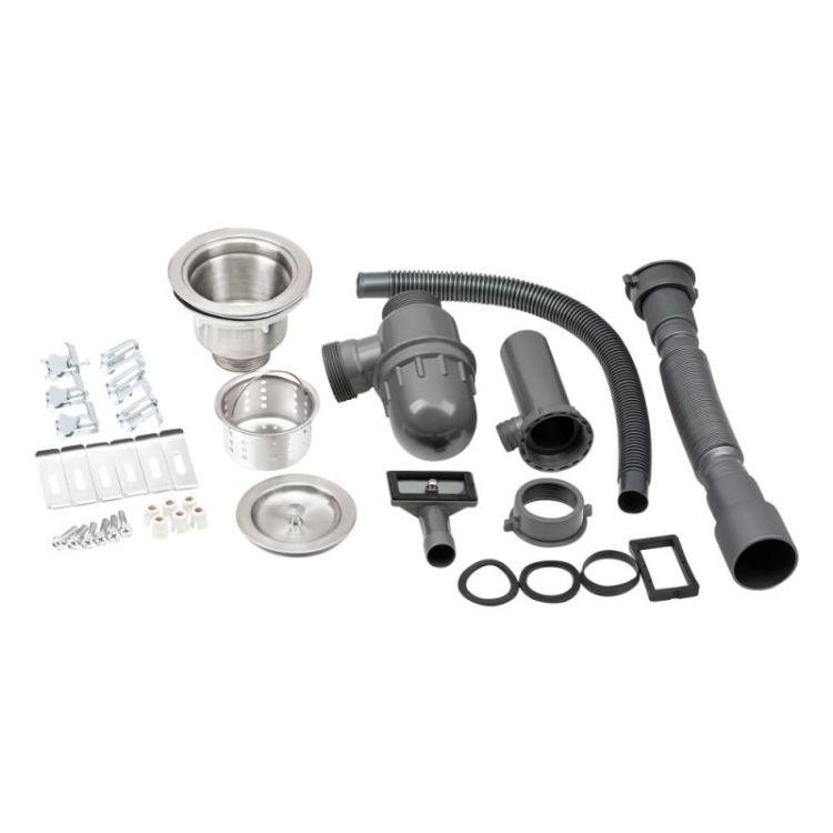 Кухонна мийка Qtap D5050BL 2.7/1.0 мм (QTD5050BLPVD10) - 7