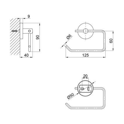 Тримач для туалетного паперу SW 22-104CRM - 2