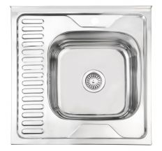 Кухонна мийка Lidz 6060-R Polish 0,6 мм (LIDZ6060RPOL06)