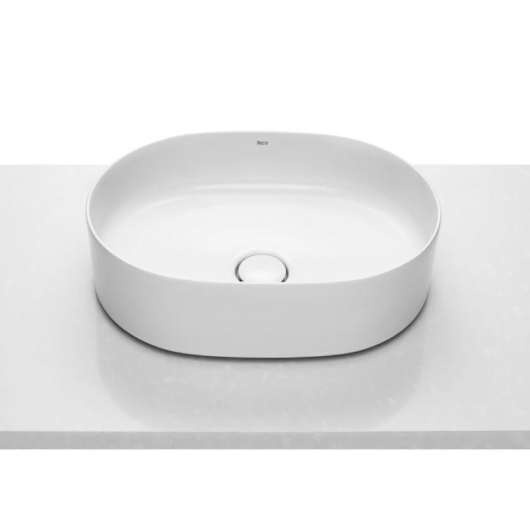 INSPIRA Round умывальник 500*370*140мм, круглый, накладной, без отв. под смеситель, без перелива - 1