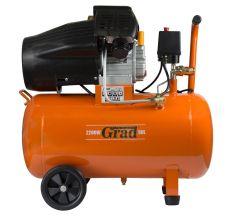 Компресор V 2.2 кВт 386л/хв 8бар 50л (2 крана) Grad (7043935)
