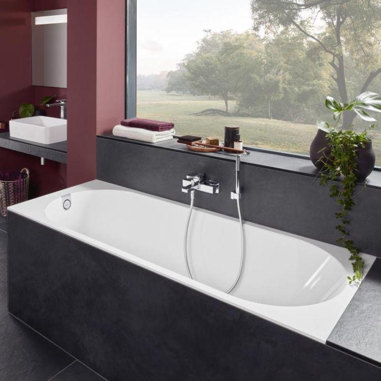 OBERON 2.0 Solo ванна 180*80см, квариловая з ніжками і зливом-переливанням - 4