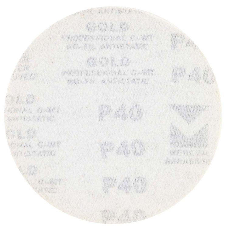 Шлифовальный круг без отверстий Ø125мм Gold P40 (10шт) Sigma (9120031) - 2