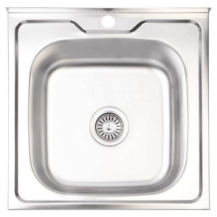Кухонна мийка Lidz 5050 Satin 0,6 мм (LIDZ5050SAT06) - 1