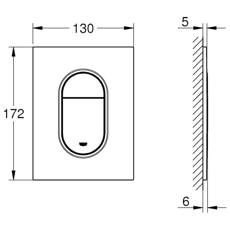 Arena Cosmopolitan клавиша смыва (цвет-супер сталь) - 2