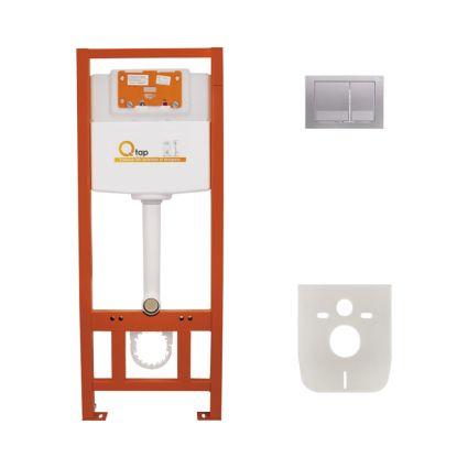Набір інсталяція 4 в 1 Qtap Nest ST з квадратної панеллю змиву QT0133M425M06029SAT - 1