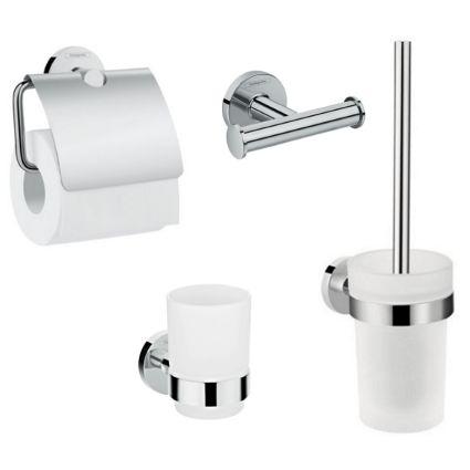 Logis Набір аксесуарів: гачок подвійний, тримач туалетного паперу, стакан, туалетна щітка (41725000+41723000+41718000+41722000) - 1
