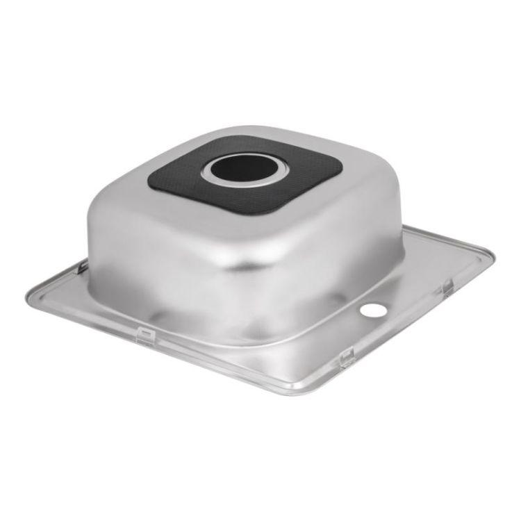 Кухонна мийка Lidz 4848 Decor 0,6 мм (LIDZ4848DEC06) - 5