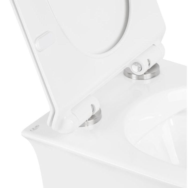 Унітаз підвісний Qtap Virgo безободковый з сидінням Slim Soft-close QT1833051ERW - 5
