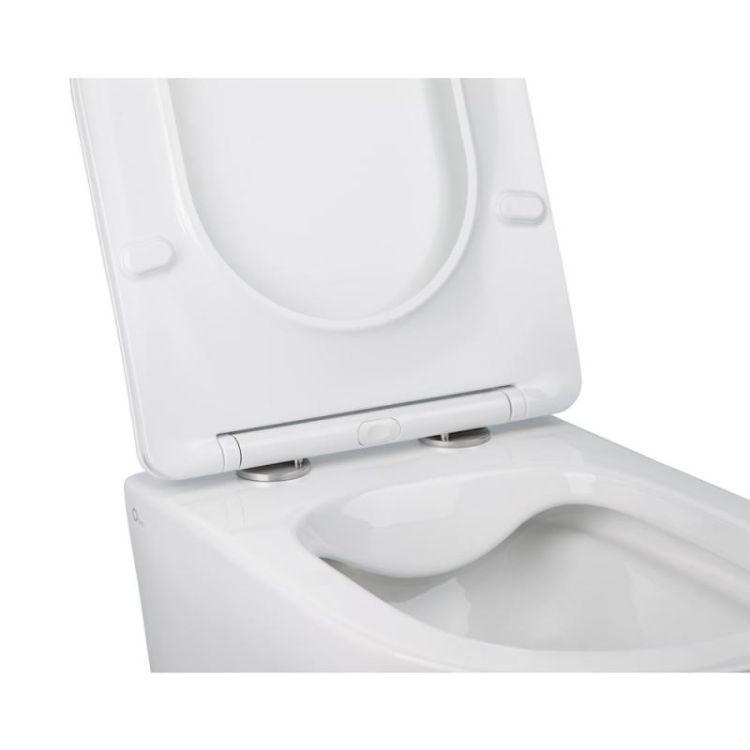 Комплект Qtap інсталяція Nest QTNESTM425M11CRM + унітаз з сидінням Jay QT07335176W + набір для гігієнічного душу зі змішувачем Form QTFORMCRM001AB - 5
