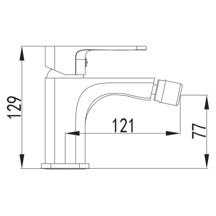 BILOVEC змішувач для биде, хром, 35мм - 2