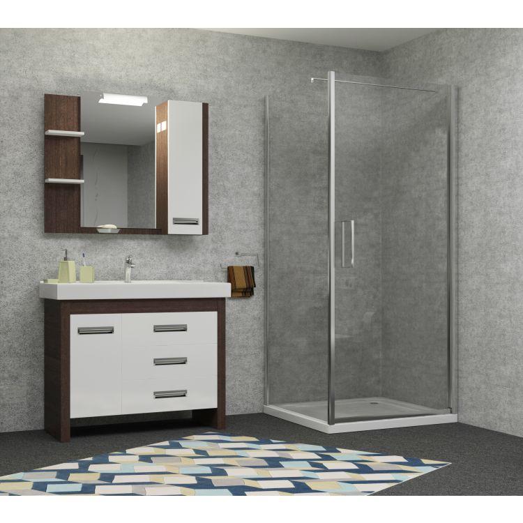 RUDAS душова кабіна квадратна 90*90*205 см, піддон (PUF) 5 см (з сифоном), орні, скло прозоре, права - 4