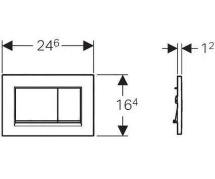 Sigma30 Смывная клавиша, двойной смыв, белый/хром глянцевый/белый - 2
