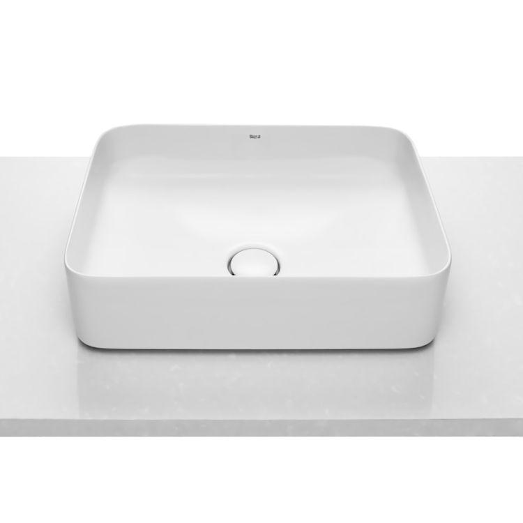 INSPIRA Square умивальник 500*370*140мм, квадратний, накладної, без отв. під змішувач, без переливу - 1